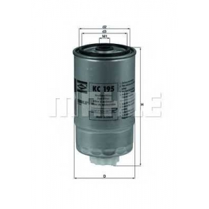 MAHLE KC195 Фільтр паливний