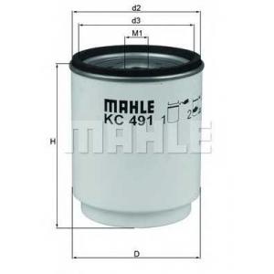 MAHLE FILTERS KC491D Фільтр паливний Mahle RENAULT