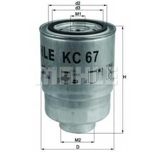 MAHLE FILTERS KC67 Фільтр паливний Mahle Nissan