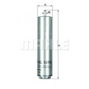 MAHLE KL169/4D Фильтр топлива  BMW