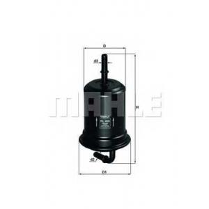 MAHLE FILTER KL 456 Фильтр топливный двигателя (прямоточный)