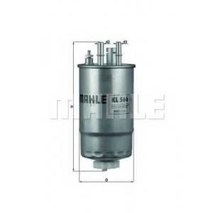 MAHLE KL 566 Фильтр топливный