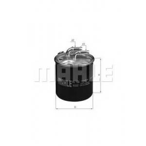 kl723d mahle Топливный фильтр MERCEDES-BENZ SPRINTER 3,5-t автобус 319 CDI / BlueTEC (906.731, 906.733, 906.735)