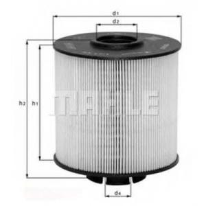 MAHLE FILTERS KX67/2D Фільтр паливний Mahle Daimler NFZ