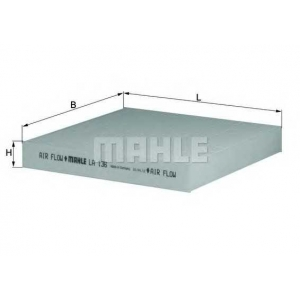 MAHLE FILTERS LA136 Фільтр салону Mahle Renault