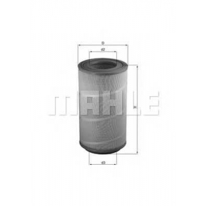 MAHLE FILTERS LX1025 Фільтр повітряний Mahle DAF