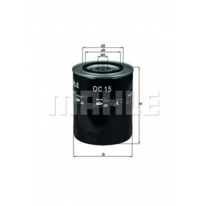 oc15 mahle Масляный фильтр FIAT 130 купе 3.2 (BC)