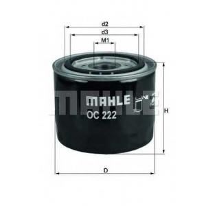 MAHLE OC222 Фільтр масляний Mahle Volvo
