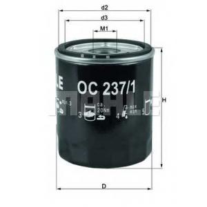 MAHLE OC 237/1 Фильтр масляный Mahle OC472