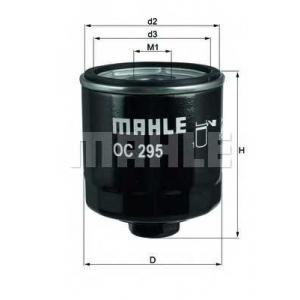 MAHLE FILTERS OC295 Фільтр масляний Mahle Seat, Skoda, VW