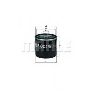 oc475 mahle Масляный фильтр RENAULT CLIO Наклонная задняя часть 1.2 (5/357Y, 5/357K)