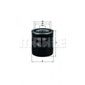 MAHLE OC540 Фільтр масляний Mahle Hyundai, Kia
