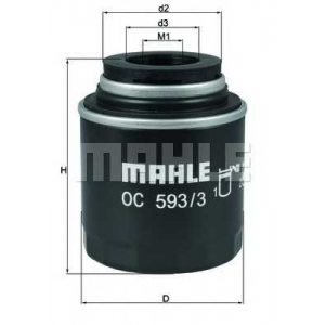 MAHLE OC593/3 Фільтр масляний