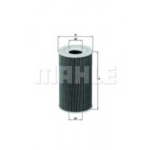 MAHLE FILTERS OX128/1D Фільтр масляний Mahle Porsche