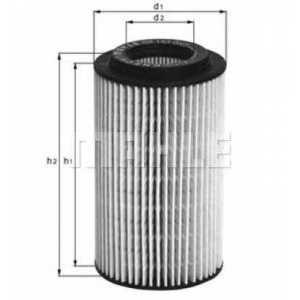 MAHLE FILTERS OX153D1 Фільтр масляний Mahle Opel, Vauxhall