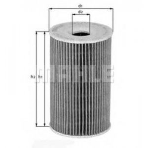 MAHLE FILTERS OX156D Фільтр масляний Mahle BMW