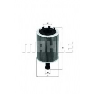 MAHLE FILTERS OX188D Фільтр масляний Mahle VW, Seat