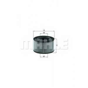MAHLE FILTERS OX191D Фільтр масляний Mahle Ford