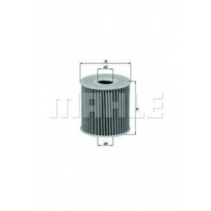 MAHLE FILTERS OX192D Фільтр масляний Mahle Mazda, Nissan
