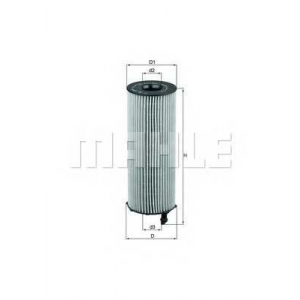 MAHLE FILTERS OX196/1D1 Фільтр масляний Mahle Landrover