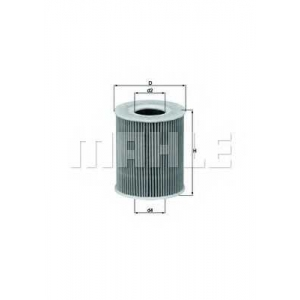 MAHLE FILTERS OX203D Фільтр масляний Mahle Ford