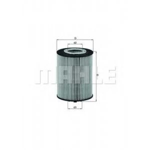 MAHLE FILTERS OX367D Фільтр масляний Mahle BMW