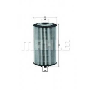 MAHLE FILTERS OX401D Фільтр масляний Mahle OPEL Astra,Vectra 06-