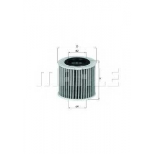 MAHLE FILTERS OX416D2 Фільтр масляний Mahle Toyota