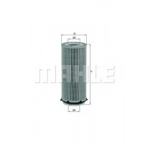 MAHLE FILTERS OX560D Фільтр масляний Mahle BMW