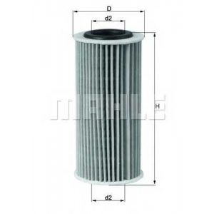 MAHLE FILTERS OX835D Фільтр масляний Mahle AUDI A3,A4,A5 1,8-2,0 TFSI 07-
