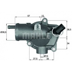 ti2792 mahle Термостат, охлаждающая жидкость MERCEDES-BENZ E-CLASS универсал E 270 T CDI