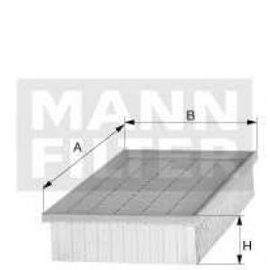 Фільтр повітряний Citroen Berlingo/C4 1.6 16V 04-/ c43712 mann -