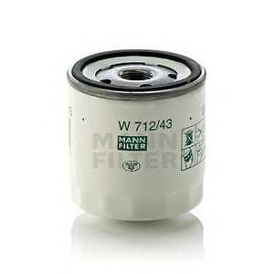 MANN W 712/43 Фильтр масляный