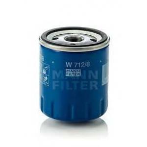 MANN-FILTER W712/8 Фильтр масляный (пр-во MANN)