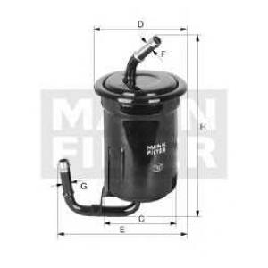 Топливный фильтр wk61413 mann - MAZDA 626 III (GD) седан 2.0