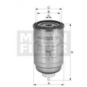 MANN-FILTER WK965X Фильтр топл. DAF, CATERPILLAR (TRUCK)  (пр-во MANN)