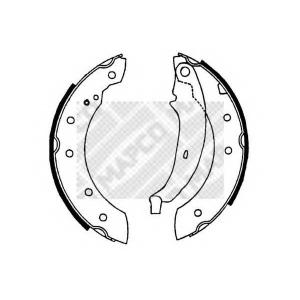 MAPCO 8128 Колодки тормозные барабанные, комплект