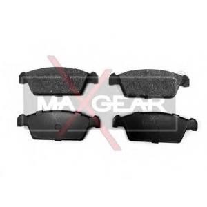 MAXGEAR 19-0480 Комплект тормозных колодок, дисковый тормоз Дэу Тико