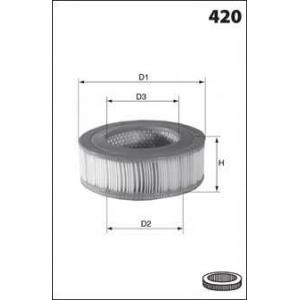 MECAFILTER EL3155 Air filter