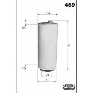 MECAFILTER EL3816 Фiльтр повiтряний Bmw E46 / E60 Diesel