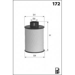 MECAFILTER ELG5322 Фiльтр паливний Fiat Punto/Panda 1.3 JTD 16V 03-