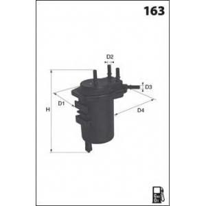 MECAFILTER ELG5341 Фільтр паливний Renaul Clio/Kangoo 1.5DCi 01-04