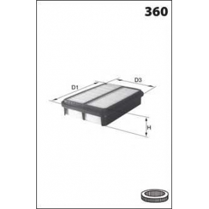 MECAFILTER ELP3760 Air filter