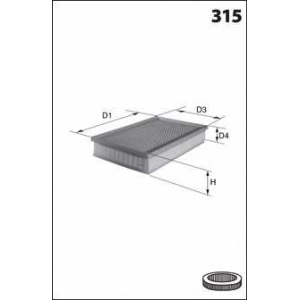 MECAFILTER ELP9085 Air filter