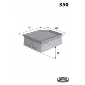 MECAFILTER ELP9182 Фільтр повітря BMW 5(E60/E61) 2.0/2.5/3.0 03-