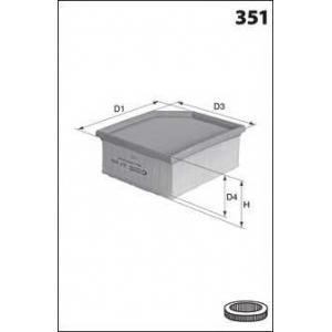 MECAFILTER ELP9329 Фільтр повітряний BMW X3 E83 1.8-3.5d x-Drive 09/06-12/10