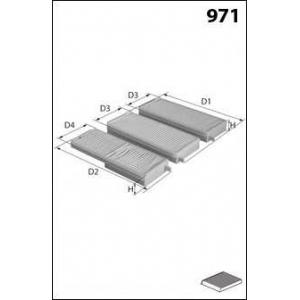 MECAFILTER JLR7167 Cabin filter