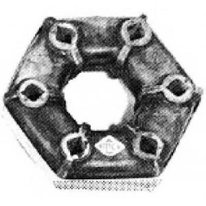 METALCAUCHO 00189 (з мет.обод) 126mm Муфта еласт. Ford Sierra,Scorpio