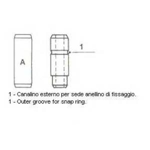 METELLI 01-0110 Направляющая клапана EX MB OM615/616/617 (пр-во Metelli)
