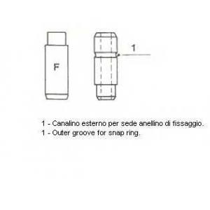 Направляющая втулка клапана 010527 metelli - MERCEDES-BENZ HECKFLOSSE (W110) седан 200 (110.010)